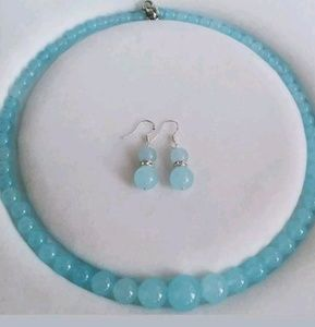 ⭐SOLD⭐ Brazilian Aquamarine Necklace/Earrings